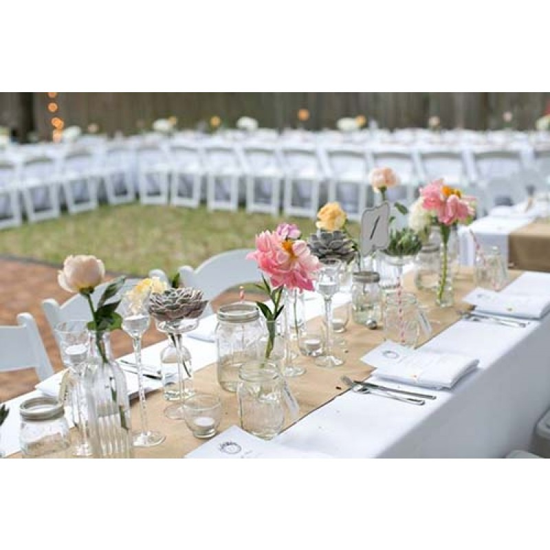 Buy online table runner 13 x 120 burlap boutique for 120 table runners