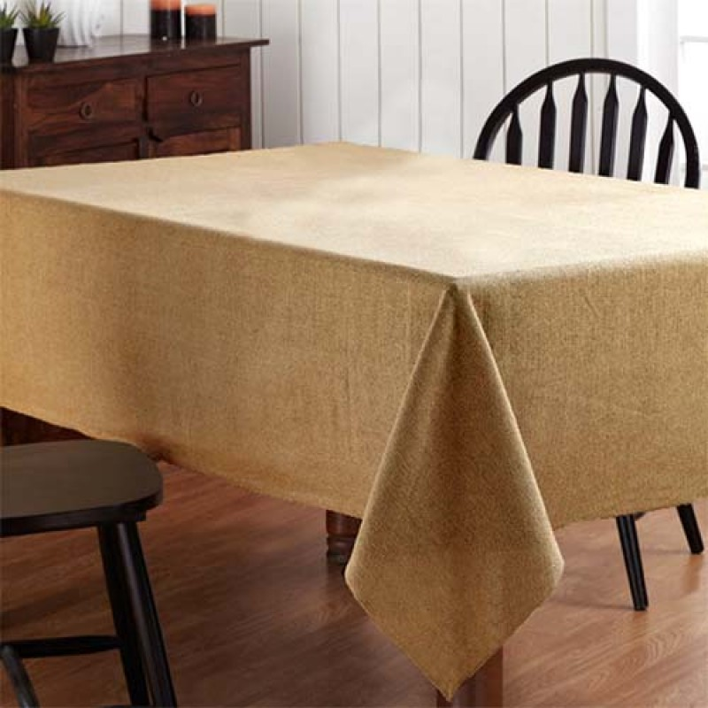 84 X 84 Square Natural Burlap Table Linen