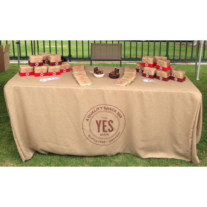 Burlap Tablecloth   Logo Printed