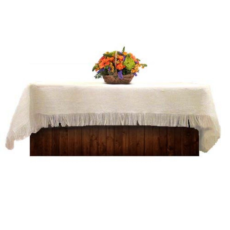 Great Natural White Burlap Tablecloth 60 X 108
