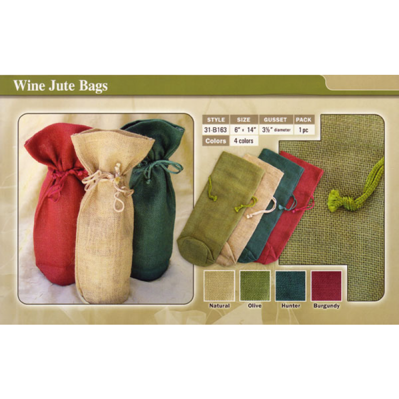 Shop for Burlap Wine Bags 100% Jute available in 4 colors
