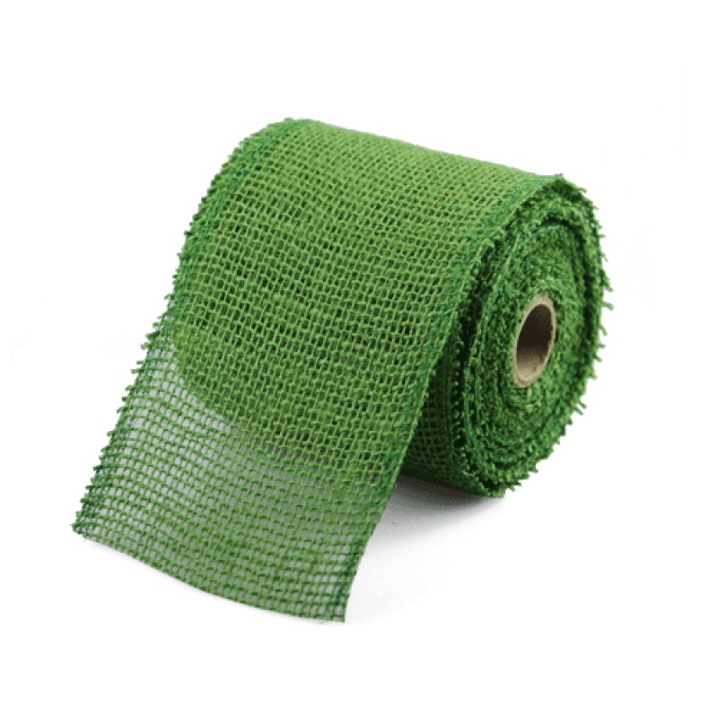 Find green jute ribbon 2 5 inch wide x 10 yards online for Green burlap ribbon
