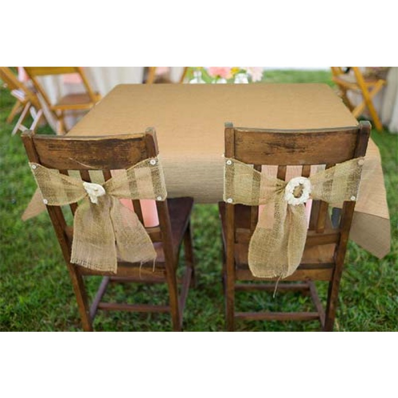 Natural Burlap Tablecloth 60 X 60 Display