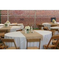 "18"" x 114"" Havana Faux Burlap Table Runner"