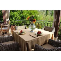 90 Square Havana Faux Burlap Table Linen