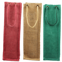 Burlap Jute wine bags with rope handles