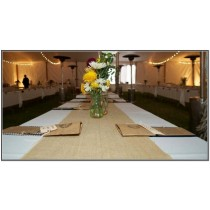 "18"" x 72"" Jute Burlap Table Runner"