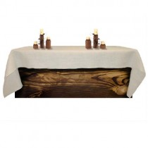Natural Burlap White Tablecloth 60 x 120