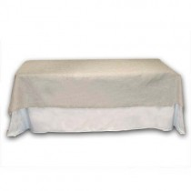 60 x 108 Rectangle Natural Burlap Table Cover