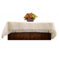 Natural White Burlap Tablecloth 60 x 108