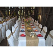Burlap Table Runner 13 x 72 Natural or White