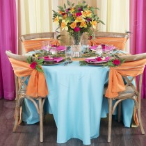 """114"""" Round Polyester Tablecloth"""