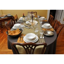 """54"""" x 120"""" Oval Polyester Tablecloth"""