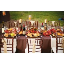 """90"""" x 90"""" Square Polyester Tablecloth"""