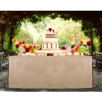 Havana Faux Burlap fitted Tablecloth Display