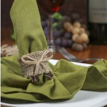 Jute Burlap Napkin Ring With Bow