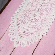 Lace Table Runner Ivory 13 x 96