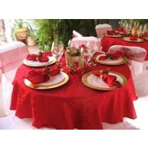 """96"""" Round Majestic Reversible Tablecloth"""