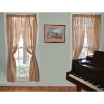 Natural Burlap Curtains 72 in.high x 60 in.wide