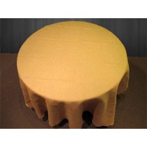 Natural Burlap Tablecloth 96 Round