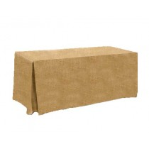 Natural burlap Fitted tablecloth pleated 24W x 60L x 29H