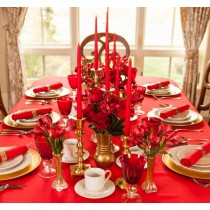 """45"""" x 45"""" Square Polyester Tablecloth"""