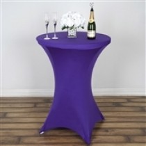 "24"" x 42"" Spandex Table Cover, Table With Legs"