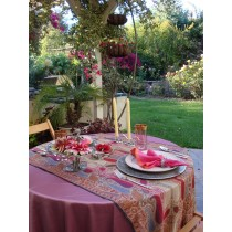 "84"" Round Satin Tablecloth"