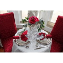 "84"" Round Spun Poly Tablecloth"