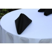 White Oval Spun Poly Tablecloth
