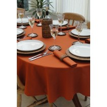 """60"""" x 108"""" Oval Polyester Tablecloth"""