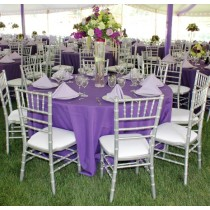 """102"""" Round Polyester Tablecloth"""
