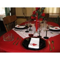"""60"""" x 94"""" Oval Polyester Tablecloth"""