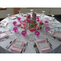 """96"""" Round Polyester Tablecloth"""