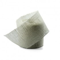 White Jute Ribbon 2.5 wide-10 yards