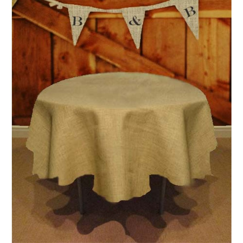 Tablecloths Available Online For 90 Round Burlap