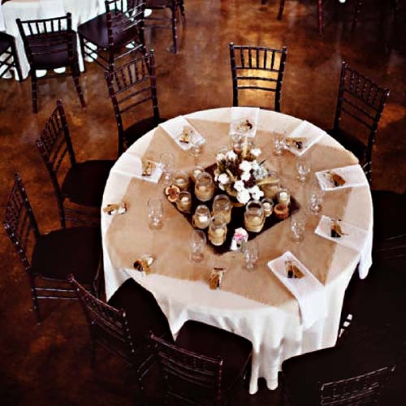 Natural 72 x 72 burlap tablecloth