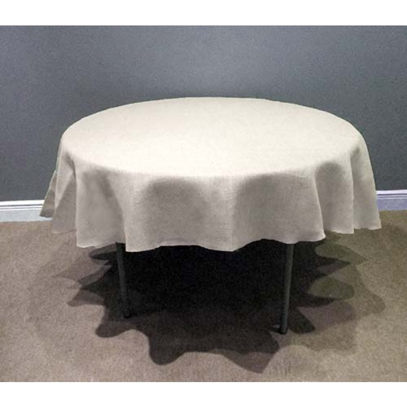 Round white 102 inch tablecloth burlap boutique for 102 inch table runners
