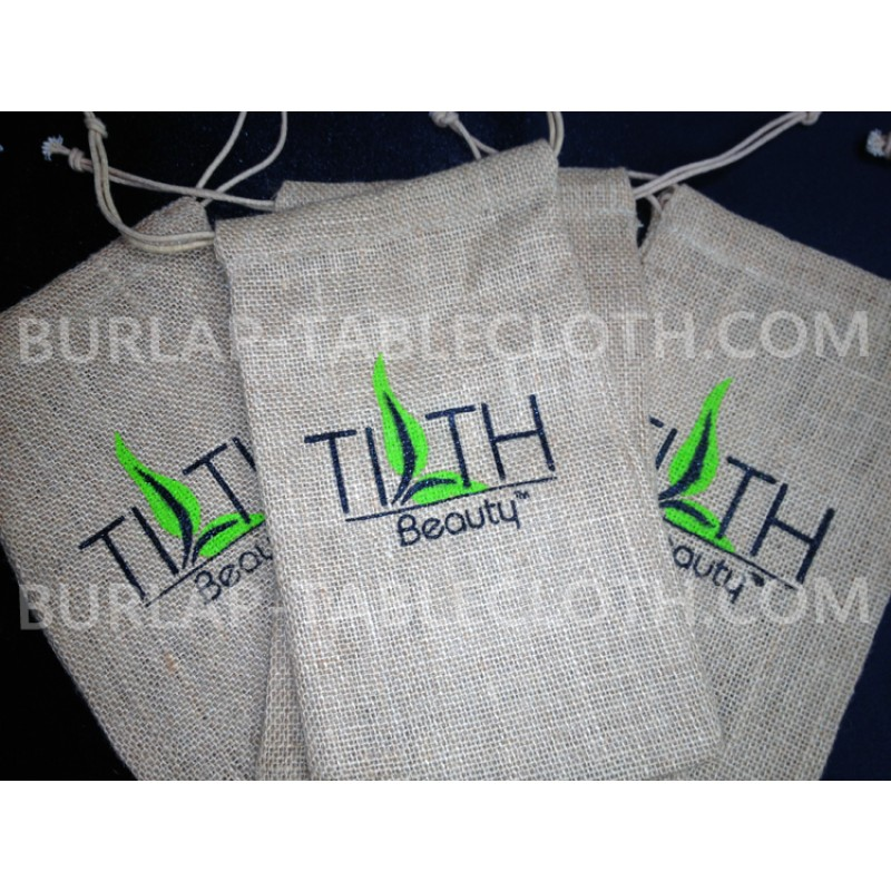Screen Printed burlap bag with logo