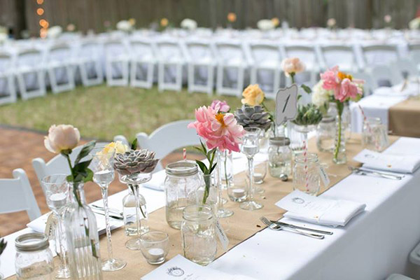 Burlap table runners 100 polyester machine wash