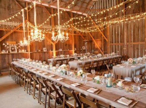 Burlap rustic wedding