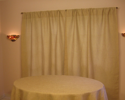 Havana Faux burlap Drapes rustic curtains