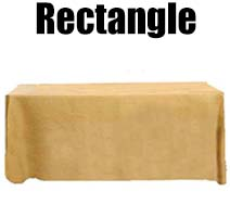 Rectangular Burlap Tablecloths
