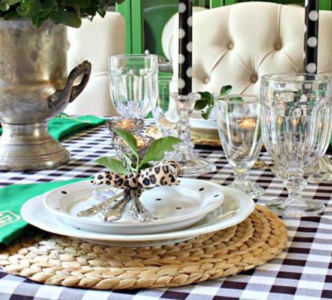 Polyester Checkered Table Linens