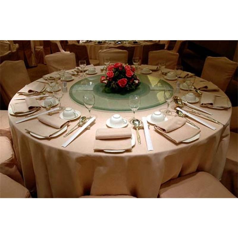 Round Havana Faux Burlap Tablecloth