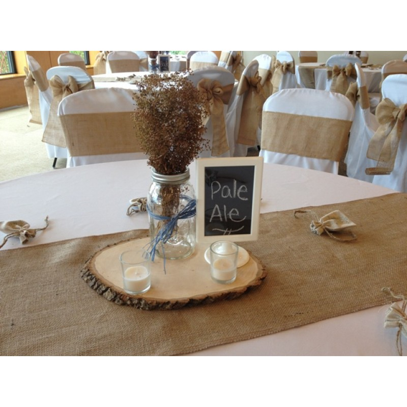 Merveilleux ... Wide Burlap Table Runner