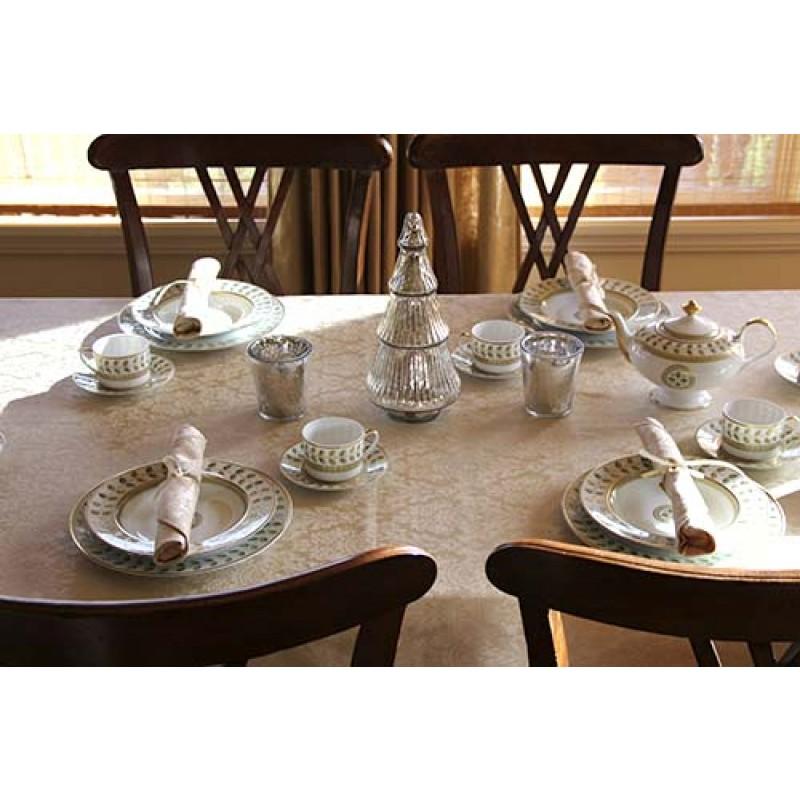 60 X 90 Rectangular Saxony Tablecloth