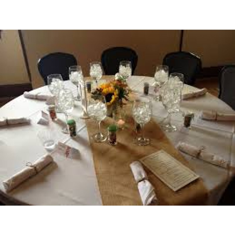 More Views. 18 Inch Wide Burlap Table Runners