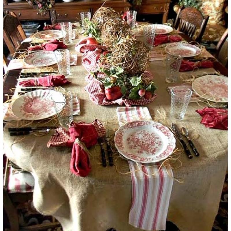 ... 108 X 156 Natural Burlap Tablecloth