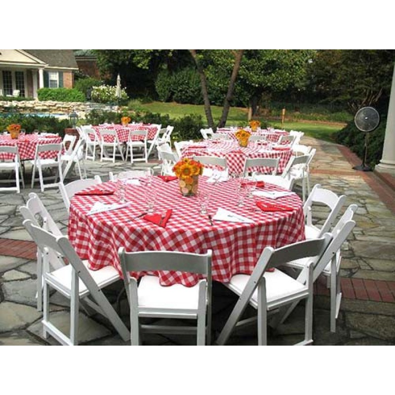 Red And White Checkered Tablecloth ...